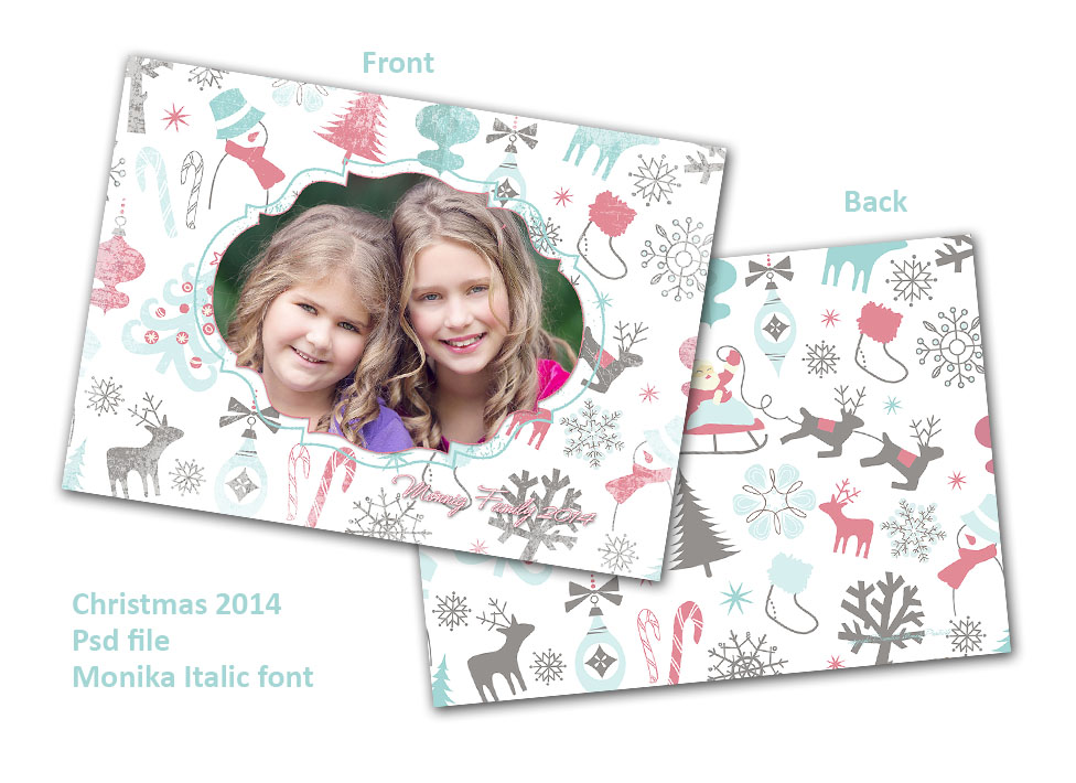 christmas card template freebie; christmas card template; photoshop template